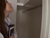 Saki Asumi enjoys chocking on a stiff pole picture 11