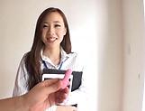 Saki Asumi enjoys chocking on a stiff pole picture 15