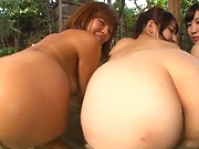 Steamy outdoor party with Japanese vixens in hardcore foursome