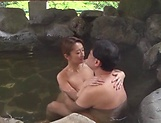 Kinky outdoor sex fun involving hot Asian mature picture 10