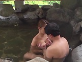 Kinky outdoor sex fun involving hot Asian mature picture 11
