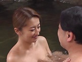 Kinky outdoor sex fun involving hot Asian mature picture 4