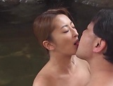 Kinky outdoor sex fun involving hot Asian mature picture 6