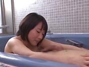 Kaho Shibuya goes nasty on a big dick in the bathtub