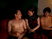 Mizuno Asahi featured in a threesome scene