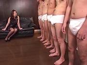 Sasaki Aki gets a wild creamy facial indoors