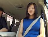 Sensual Asian brunette works dick like a goddess