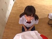 Nice teen is demonstrating her skills