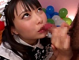 Hottie Eri Natsume just loves a hard cock in her mouth picture 14