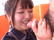 Inoue Maho amazes with her continuous cock sucking special