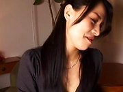 Cum loving Japanese mature Inoue Ayako gives a terrific blowjob