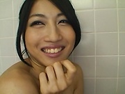 Japanese woman is fucking and sucking