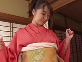 Kinky Japanese hot chick Saki Hatsumi in hot sex fun picture 13