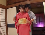 Kinky Japanese hot chick Saki Hatsumi in hot sex fun picture 14
