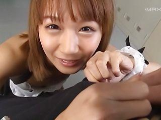 Savory maid Kamiya Ruri likes pleasing hard cock