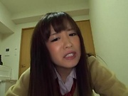 Sakura Miyuki expertly sucking a huge cock