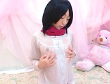 Naughty young Asian broad Mao Sena cosplay porn picture 1