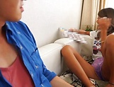 Naughty super model Aika gives hot footjob picture 13