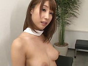 Hot Japanese cutie gives dude some hardcore orals