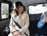 Hot Japanese lovie pleasured by her sex toys picture 4