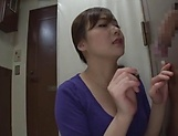 Hot milf Saitoui Miyu in raunchy glory hole session indoors picture 9