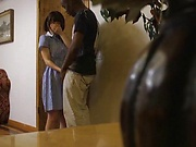 Sakura Kizuna excites in an interracial action
