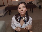 Sasakura is a smoking hot office lady picture 1