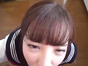 Japanese schoolgirl is giving a tit fuck