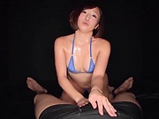 Kimito Ayumi ,gets naughty on his balls