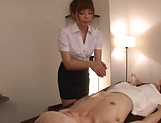Japanese babe swallows cum after great blowjob picture 13