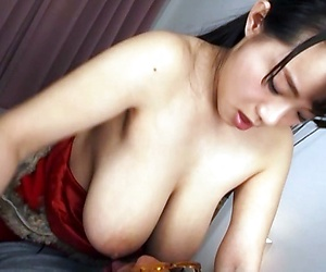 Asian hottie Shibuya Kaho enjoys titfuck and sucks a big cock