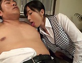 Office lady Ootsuki Hibiki gets a cumshot picture 11