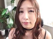 Sasaki Aki teases while in a kinky sexy costume