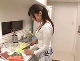 Naughty Japanese babe Fujii Arisa playing porn queen picture 15