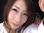 Shinoda Ayumi performs an erotic tit fuck