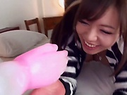 Steaming hot Asian babe with a nice ass Saijou Sara gets tits fucked