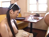 Yuna Ema excels in her cock sucking skills picture 13