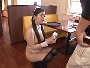 Yuna Ema featured in a kinky cosplay scene