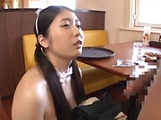 Yuna Ema excels in her cock sucking skills