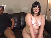 Yurino Hana is sucking a black cock