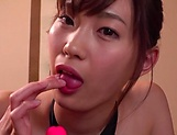 Mitani Akari is demonstrating blowjobs picture 4