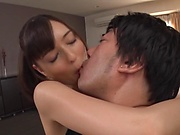 Cute Japanese beauty Nishita Karina gets cum on ass
