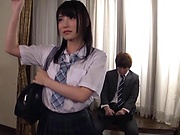 Japanese schoolgirl fucked by teacher for better grades