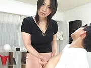 Busty milf rocks her dude's sexual world