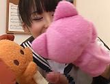 Beautiful schoolgirl Tsuchiya Asami blowing a hard stiff pole picture 11