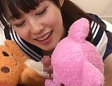 Beautiful schoolgirl Tsuchiya Asami blowing a hard stiff pole