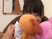 Hot teen Tsuchiya Asami in kinky blowjob fun indoors