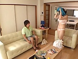 Luscious Chitose Saegusa featured in an intense pounding picture 12