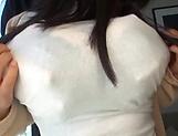 Big tits milf Nozomi Mikimoto enjoys her boobs squeezed picture 12