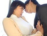 Big tits milf Nozomi Mikimoto enjoys her boobs squeezed